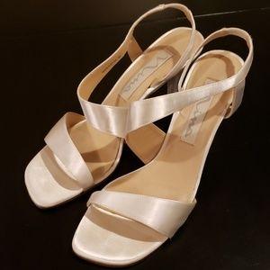 Nina Vineta White Dyable Satin Shoes